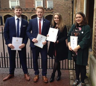 Sixth Form Students Receive Gold Duke of Edinburgh Award