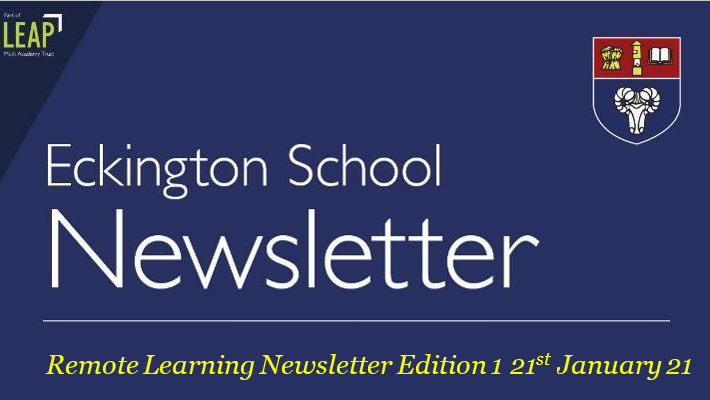 Remote Learning Newsletter 1