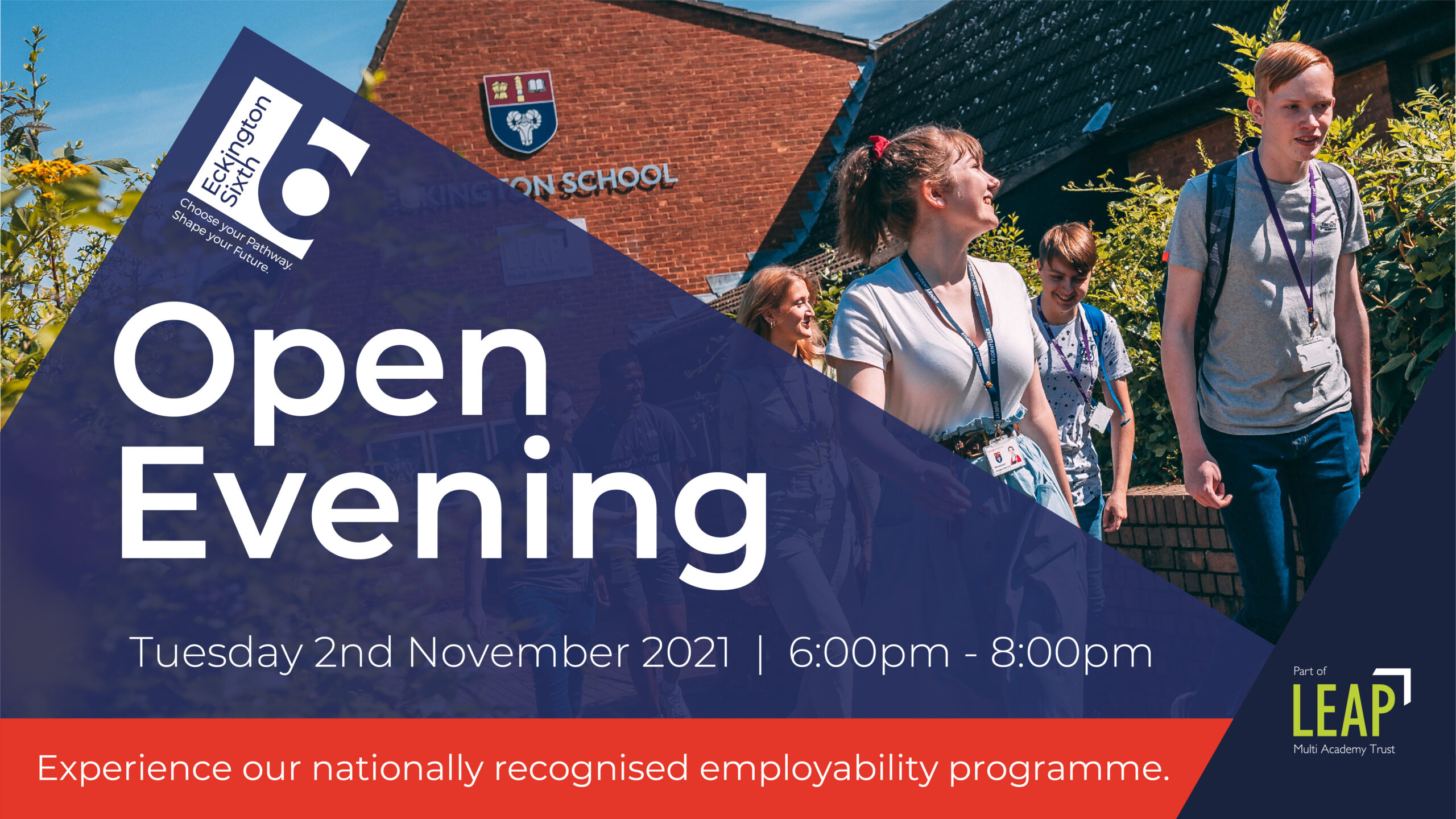 Sixth Form Open Evening - Tuesday 2nd November 6pm - 8pm